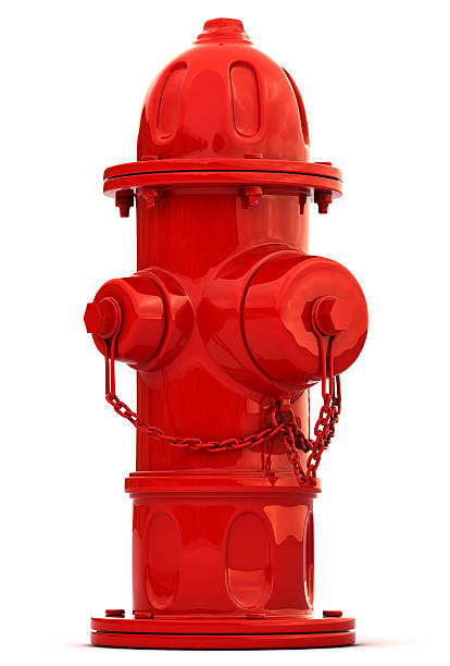 Hydrant A red fire hydrant isolated on a white background. fire hydrant stock pictures, royalty-free photos & images