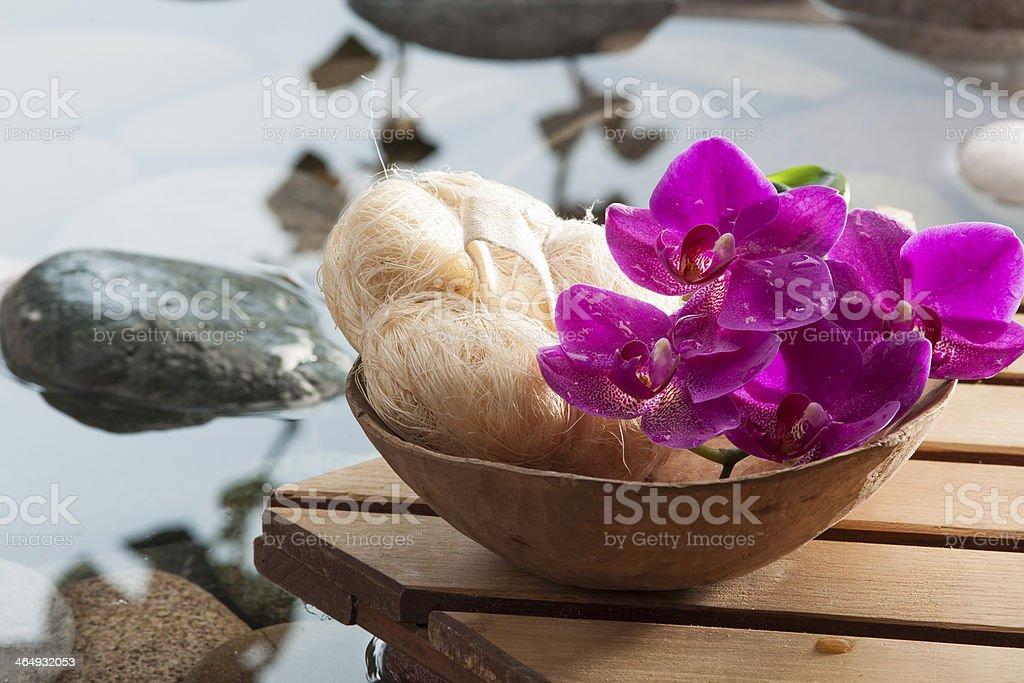hydrating peeling for beauty stock photo