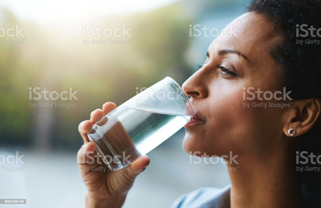 Hydration is her beauty secret stock photo