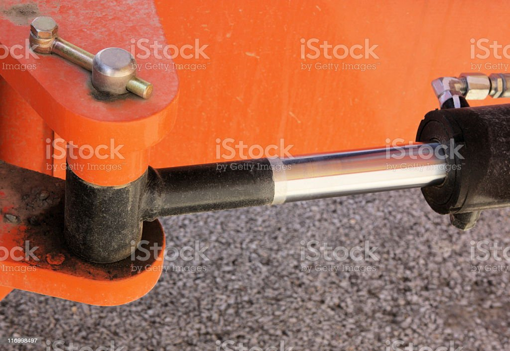 Hydraulic Arm Power Equipment Industrial Machine stock photo
