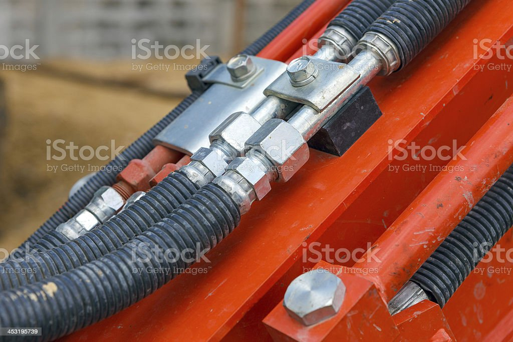 hydraulic cable royalty-free stock photo