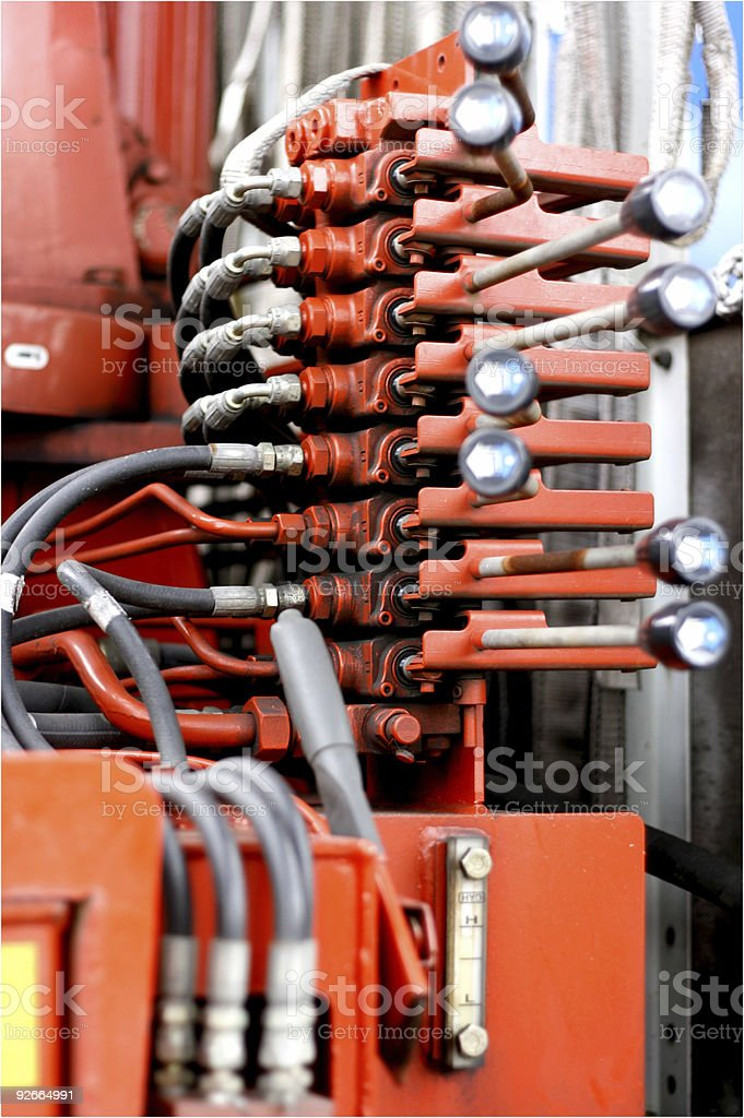 Hydraulic Control stock photo