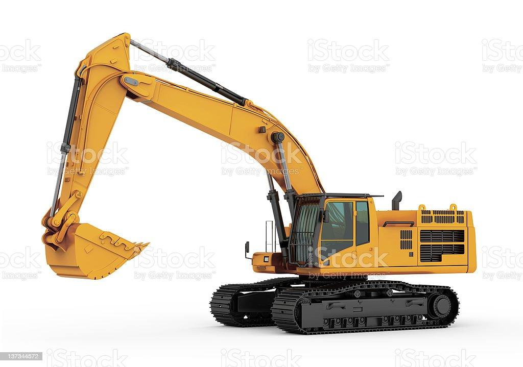 Katze 390D L hydraulische Excavator. Isoliert – Foto