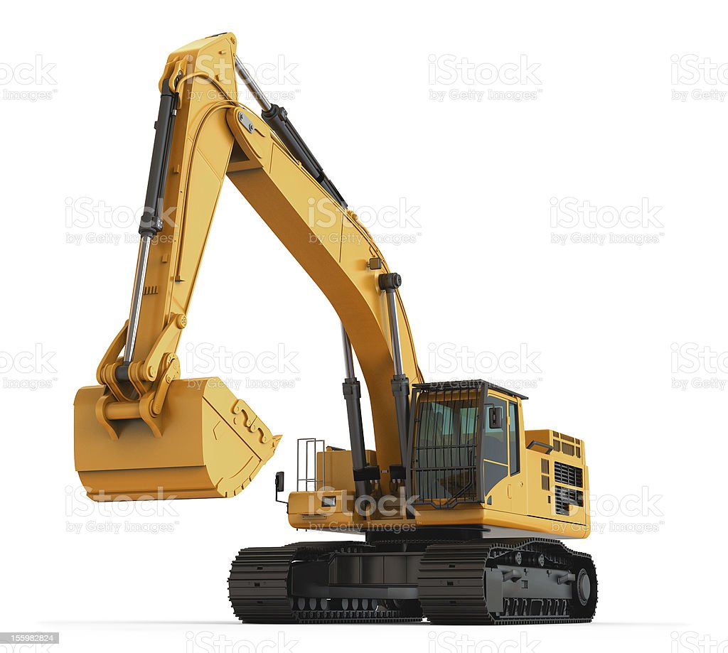 Hydraulic Excavator. Isolated. royalty-free stock photo