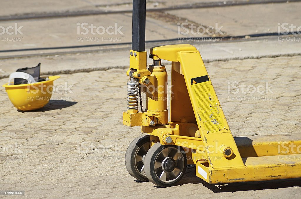 hydraulic forklift royalty-free stock photo