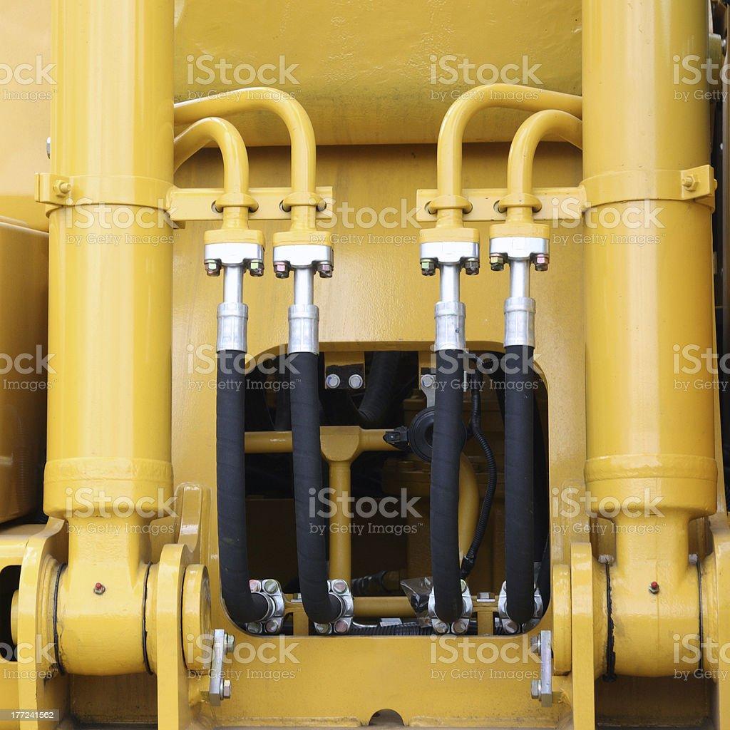 Hydraulic hoses royalty-free stock photo