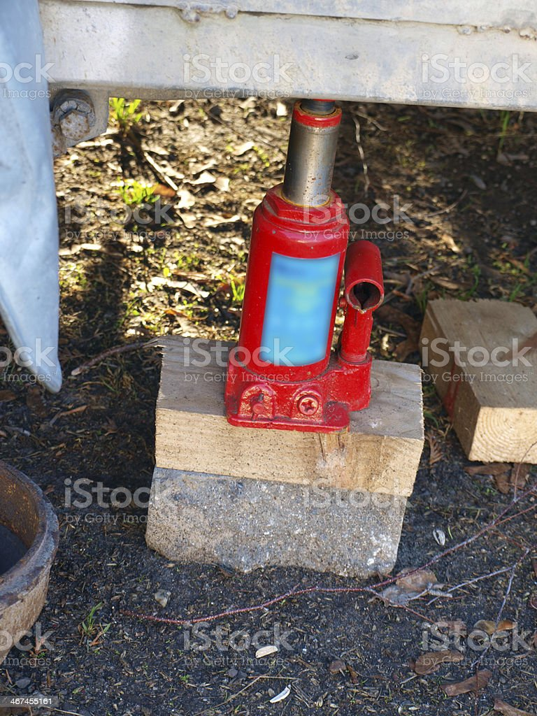 Hydraulic jack stock photo