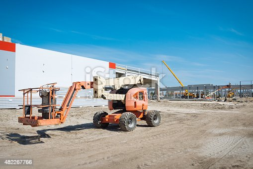 Hydraulic Lift in construction site