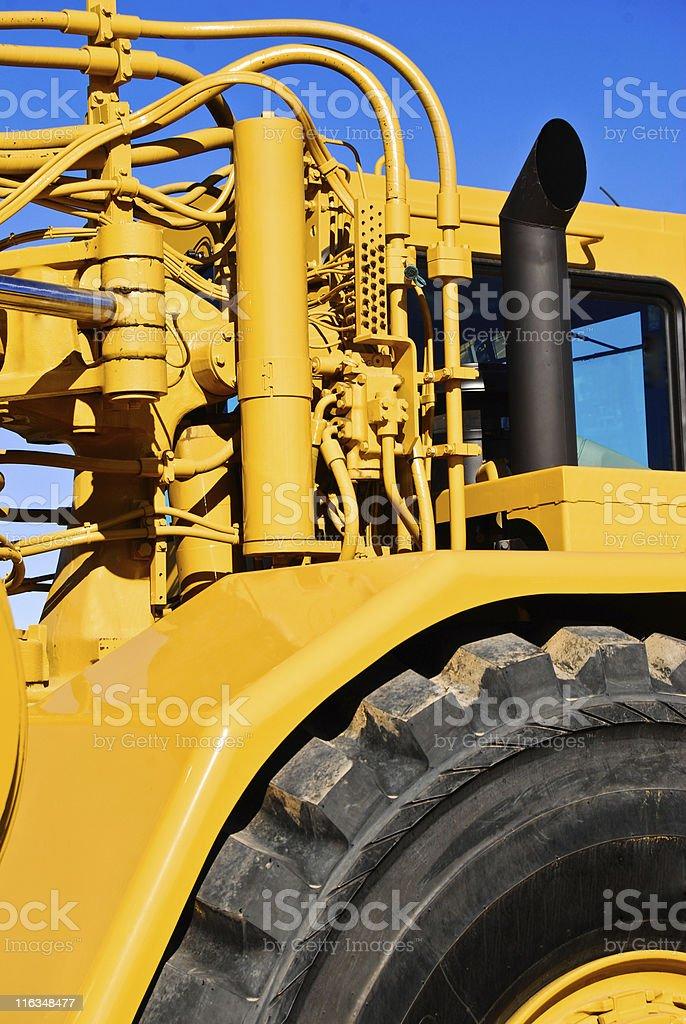 Hydraulic Manifold - Construction Earthmover, Scraper royalty-free stock photo