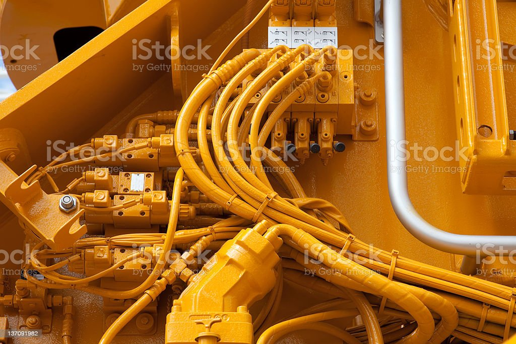 hydraulic stock photo