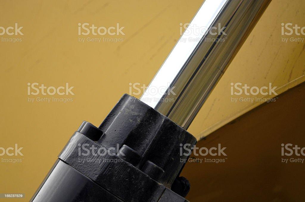 hydraulic piston royalty-free stock photo