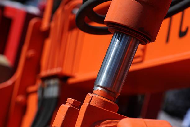Hydraulic piston. stock photo