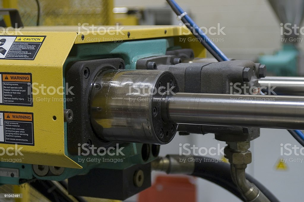 Hydraulic Pistons - Plastics manufacturing royalty-free stock photo