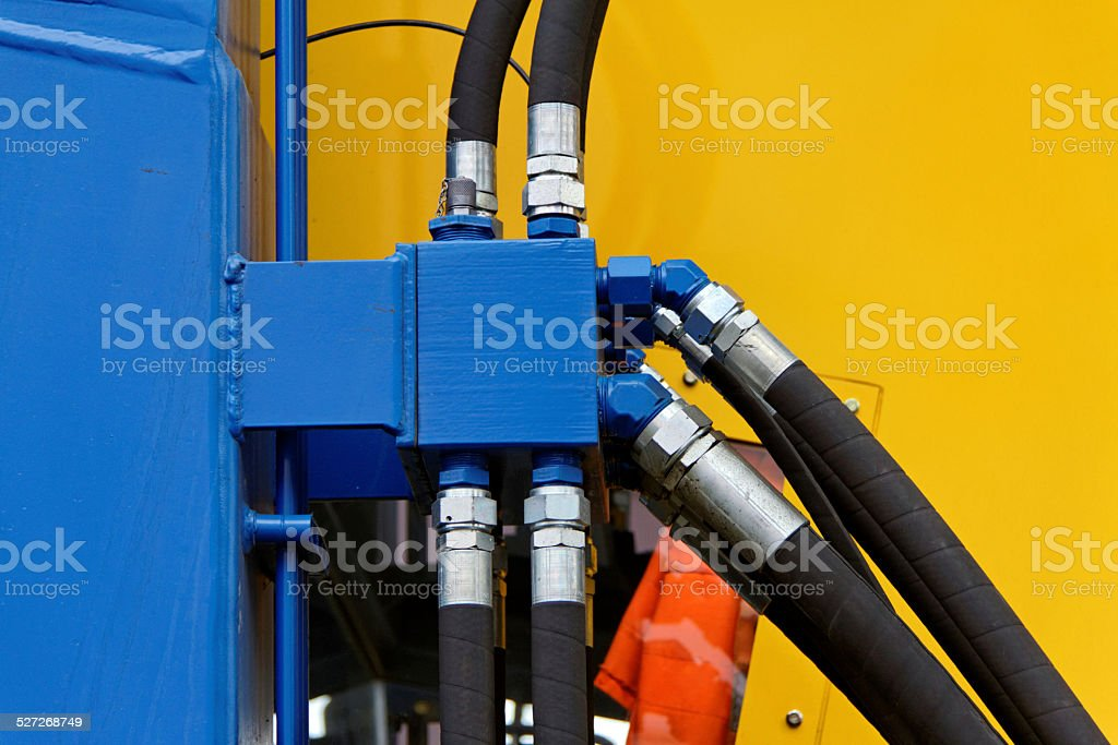 hydraulic tubes stock photo