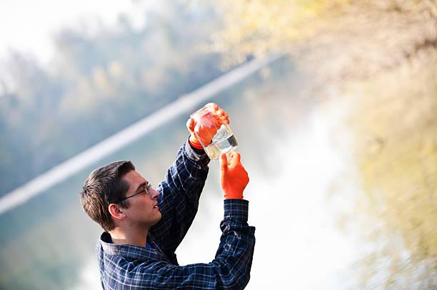hydro biólogo - organismo aquático - fotografias e filmes do acervo