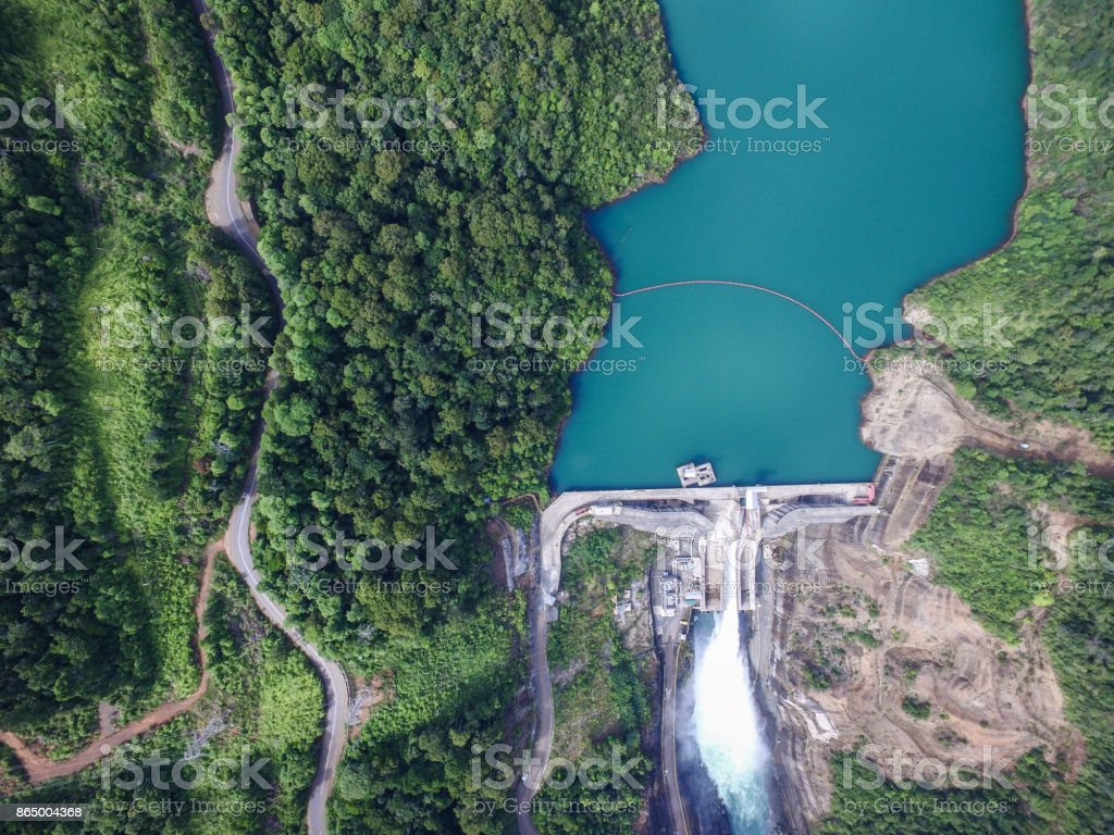 Hidro elétrica usina em Celebes do Sul - Indonésia - foto de acervo