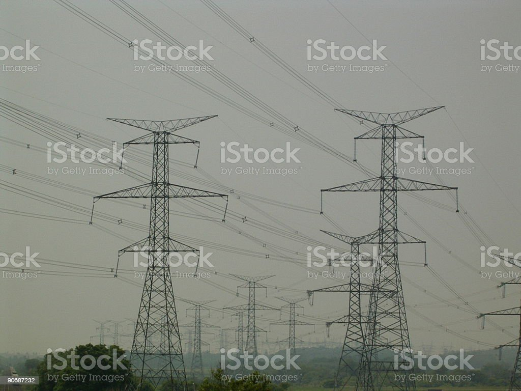 Hydro Electric Towers Stock Photo & More Pictures of Color Image ...