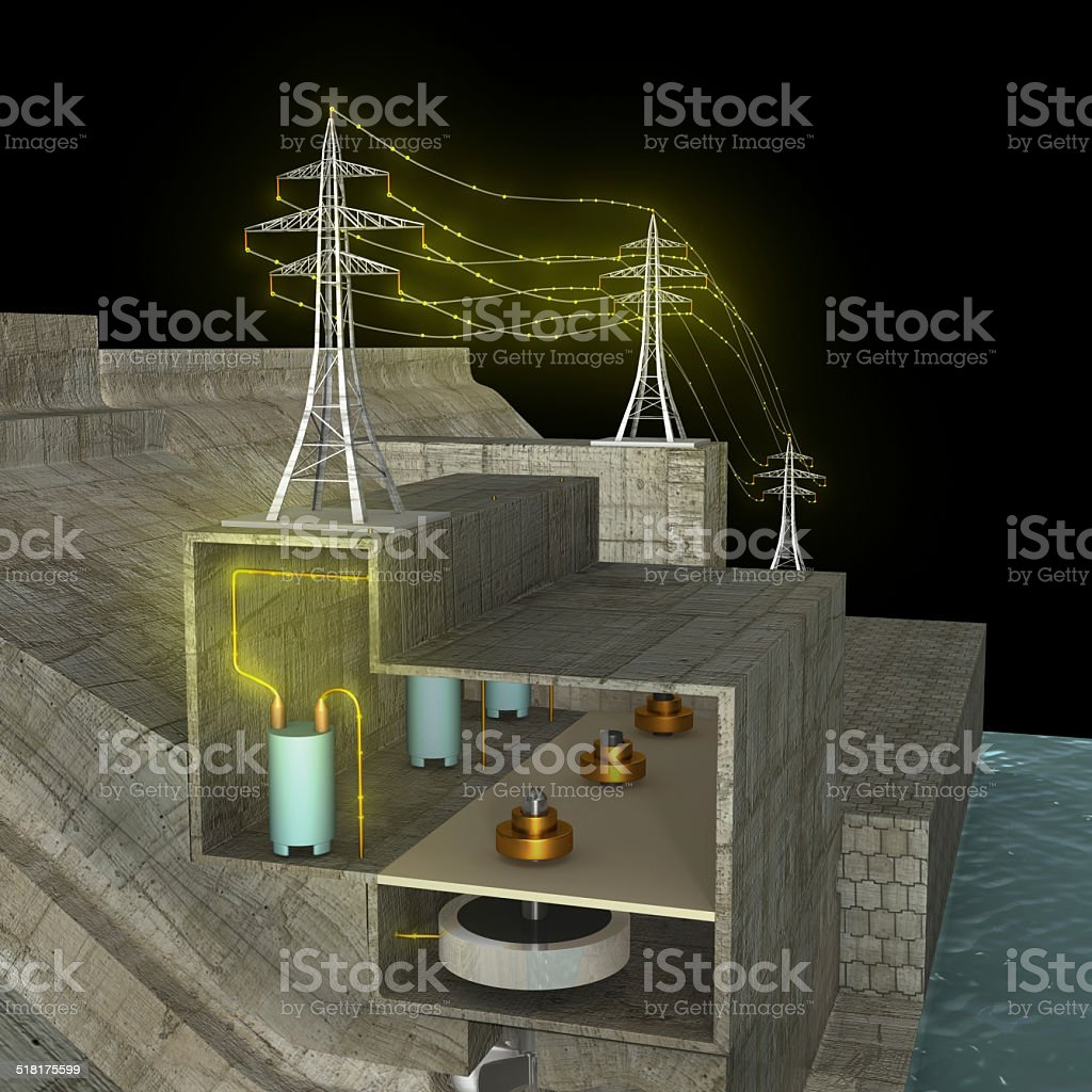 Hydro Power Plant Stock Photo More Pictures Of Cable Istock Hydroelectric Diagram Royalty Free