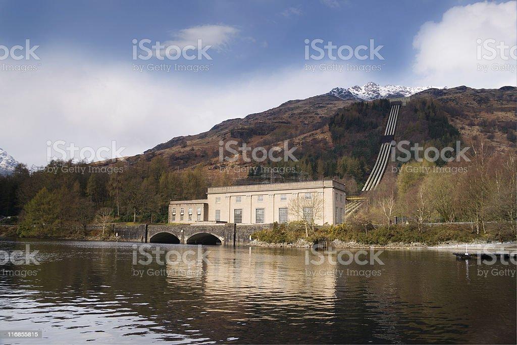 hydro power station royalty-free stock photo