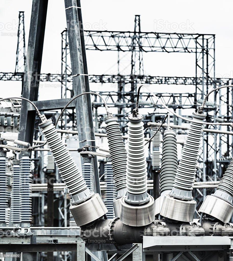 Hydro Power Substation stock photo