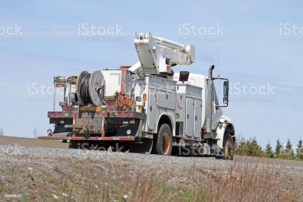 Hydro Utility Truck stock photo