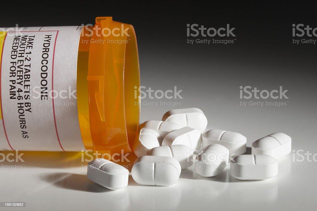 Hydrocodone Has Dark Side as Recreational Drug - Royalty-free Addiction Stock Photo