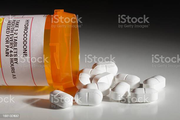 Hydrocodone Has Dark Side As Recreational Drug Stock Photo - Download Image Now