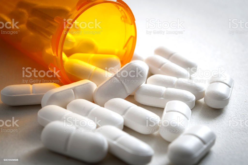 hydrocodone is an analgesic prescribed as potent pain medication stock photo