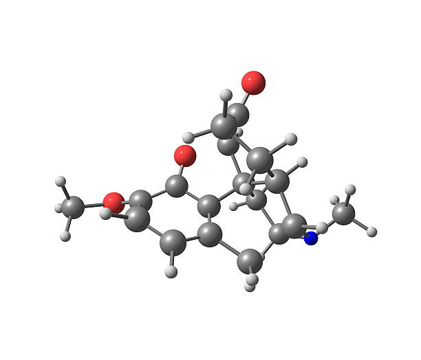 Hydrokodon Cząsteczka na białym tle – zdjęcie