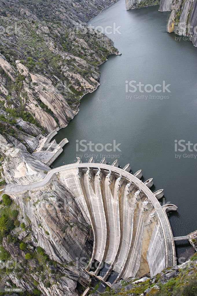 Hydroelectric Dam Aerial View royalty-free stock photo