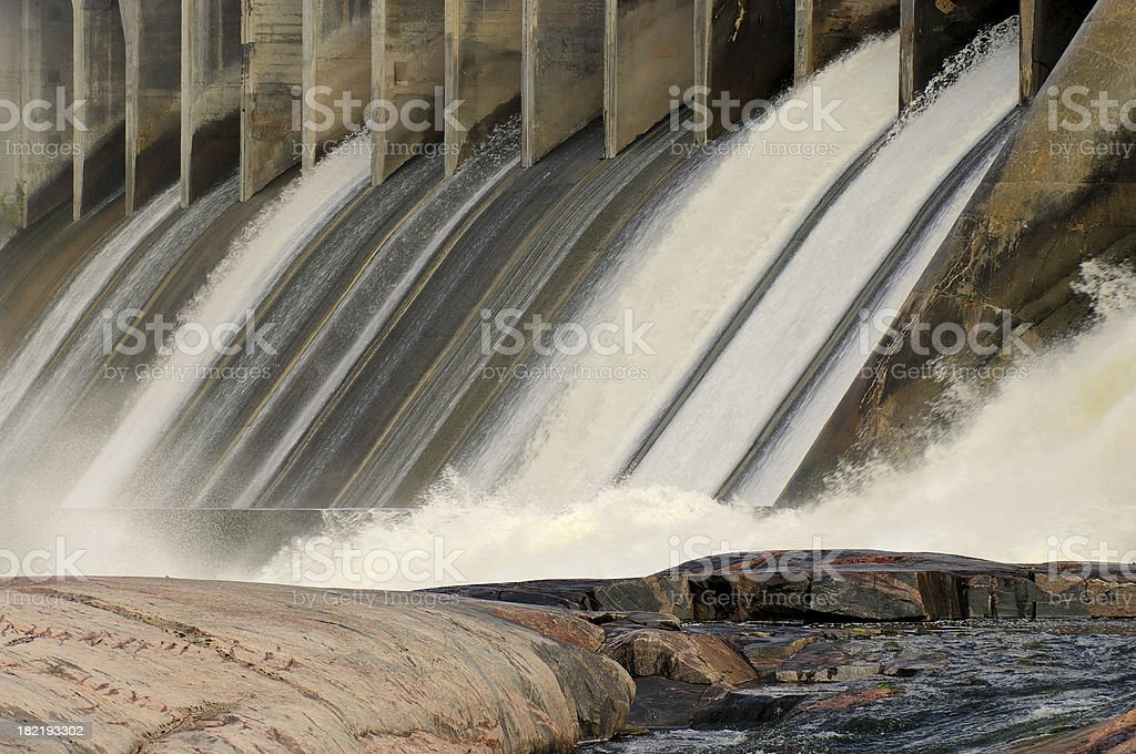 Hydroelectric Dam royalty-free stock photo