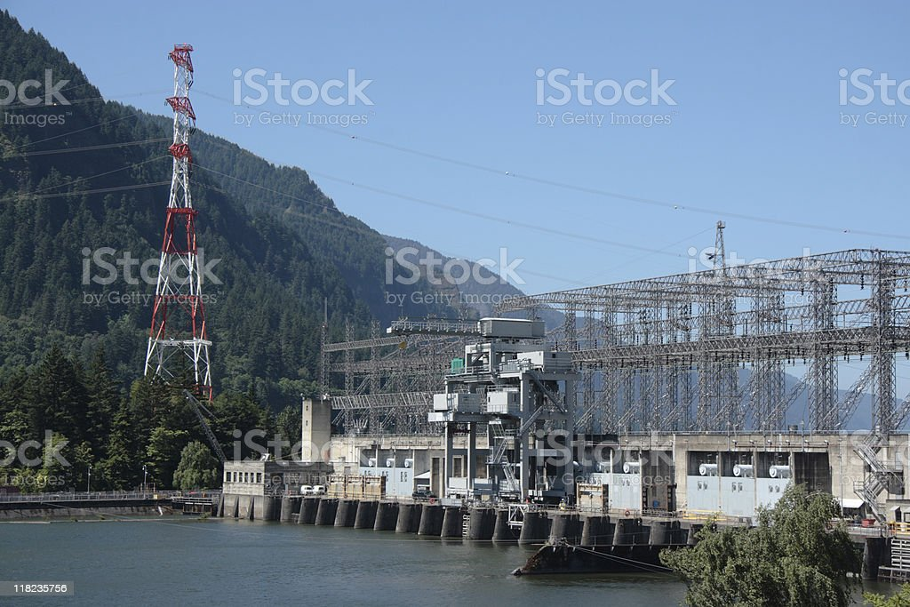 Hydroelectric Plant stock photo