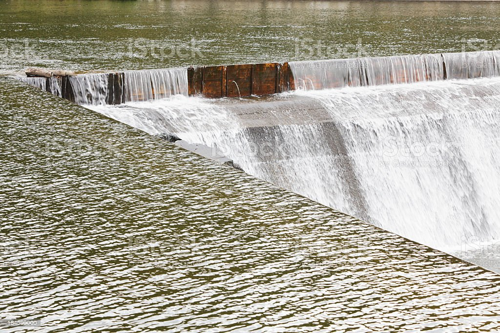 Hydroelectric Power Company Reservoir Dam Waterfall royalty-free stock photo