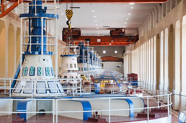гидро-генераторы электроэнергии - энергия воды стоковые фото и изображения