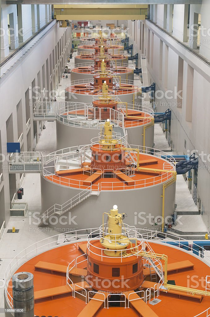 Hydro-Electric Power Generators royalty-free stock photo
