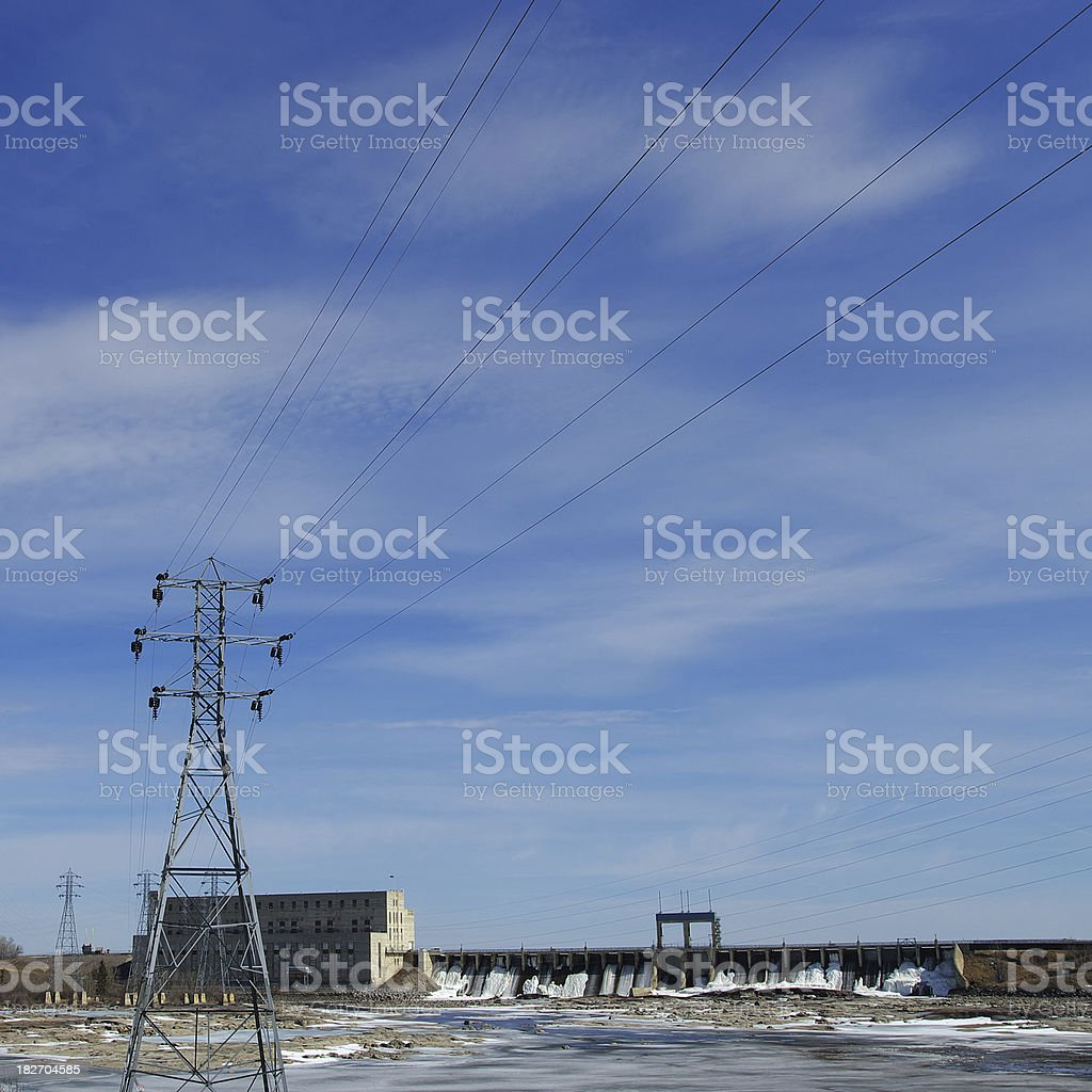 Hydroelectric Power royalty-free stock photo