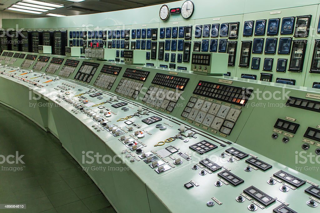 Control room of an hydroelectric power plant