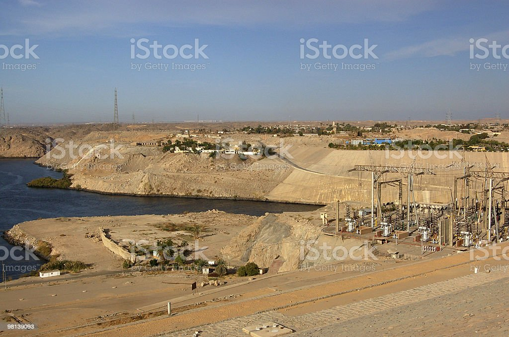 Hydroelectric power plant stock photo