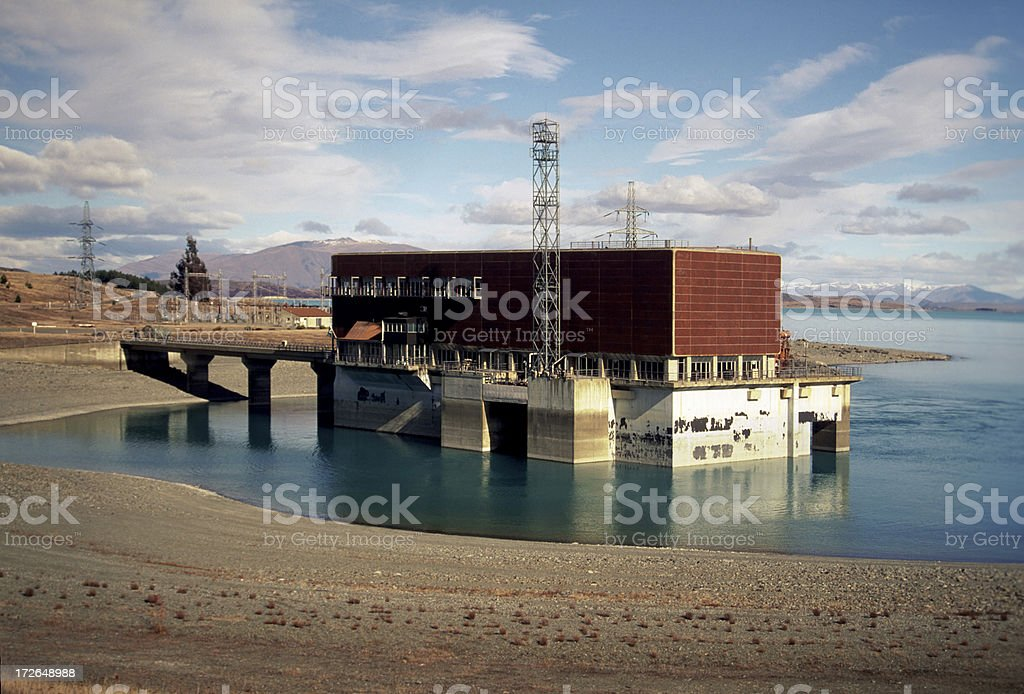 Hydroelectric power station nz royalty-free stock photo