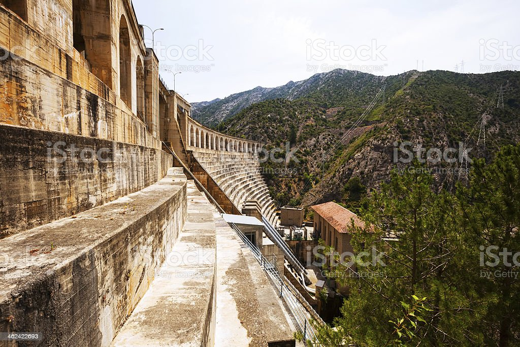 hydro-electric power station on Segre stock photo