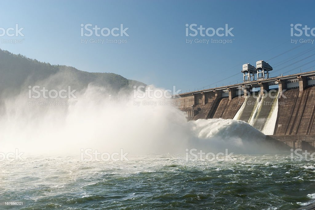 Hydroelectric Power Station royalty-free stock photo