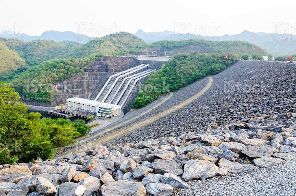 Hydroelectric power stations stock photo