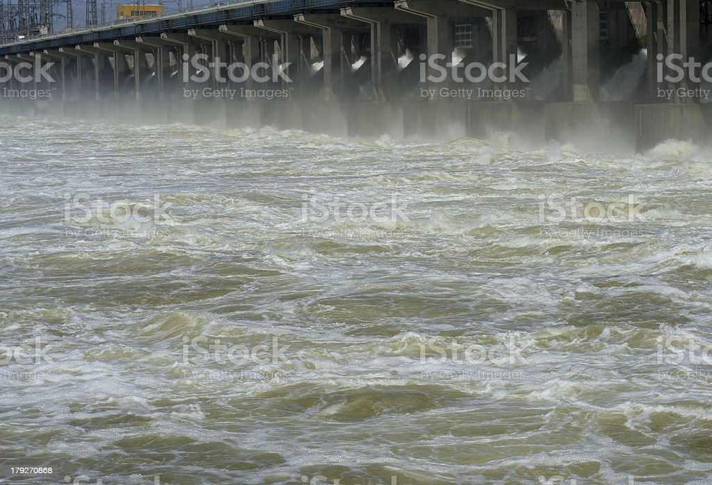 hydroelectric station royalty-free stock photo