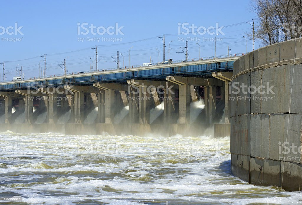 hydroelectric stations royalty-free stock photo