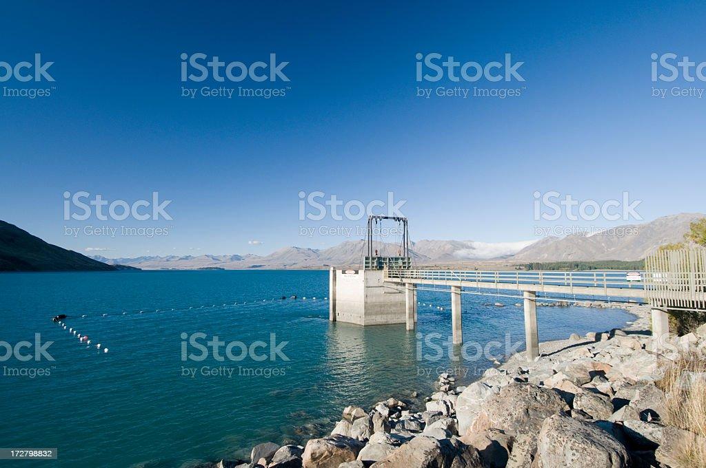 Hydroelectricity at Lake Tekapo royalty-free stock photo