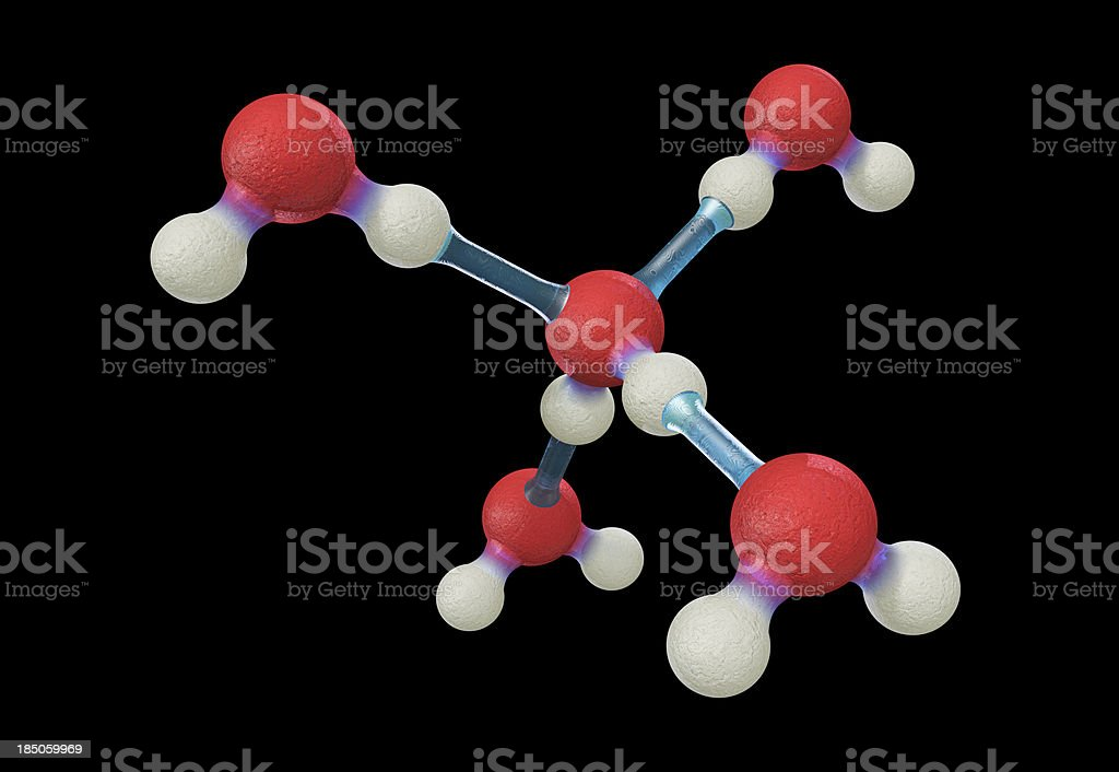 Hydrogen Bonds Between Water Molecules stock photo