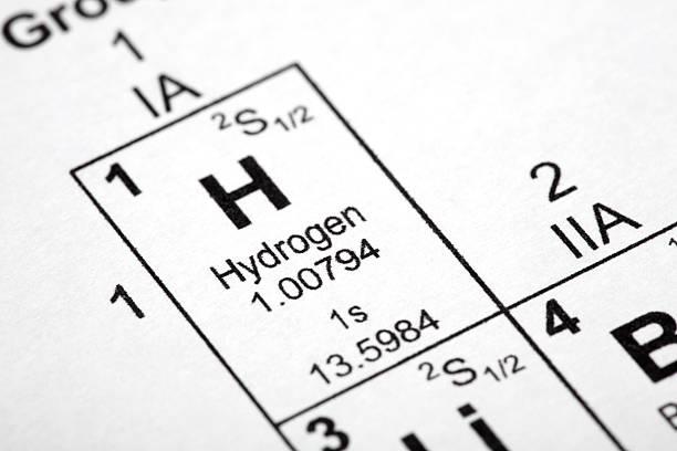 elemento di idrogeno - idrogeno foto e immagini stock
