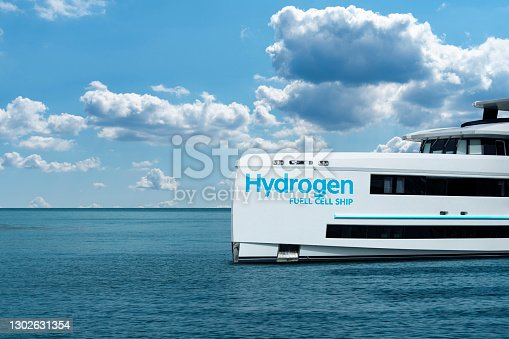 istock A hydrogen fuel cell yacht 1302631354
