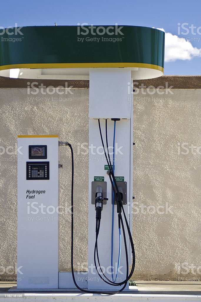 Hydrogen Fueling Station stock photo