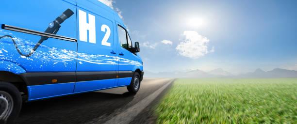 mobilità dell'idrogeno h2 - pila a idrogeno foto e immagini stock